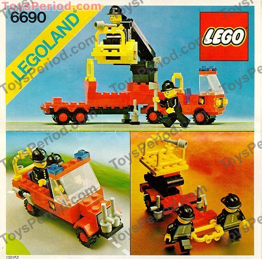 1980 Town Fire Truck Set