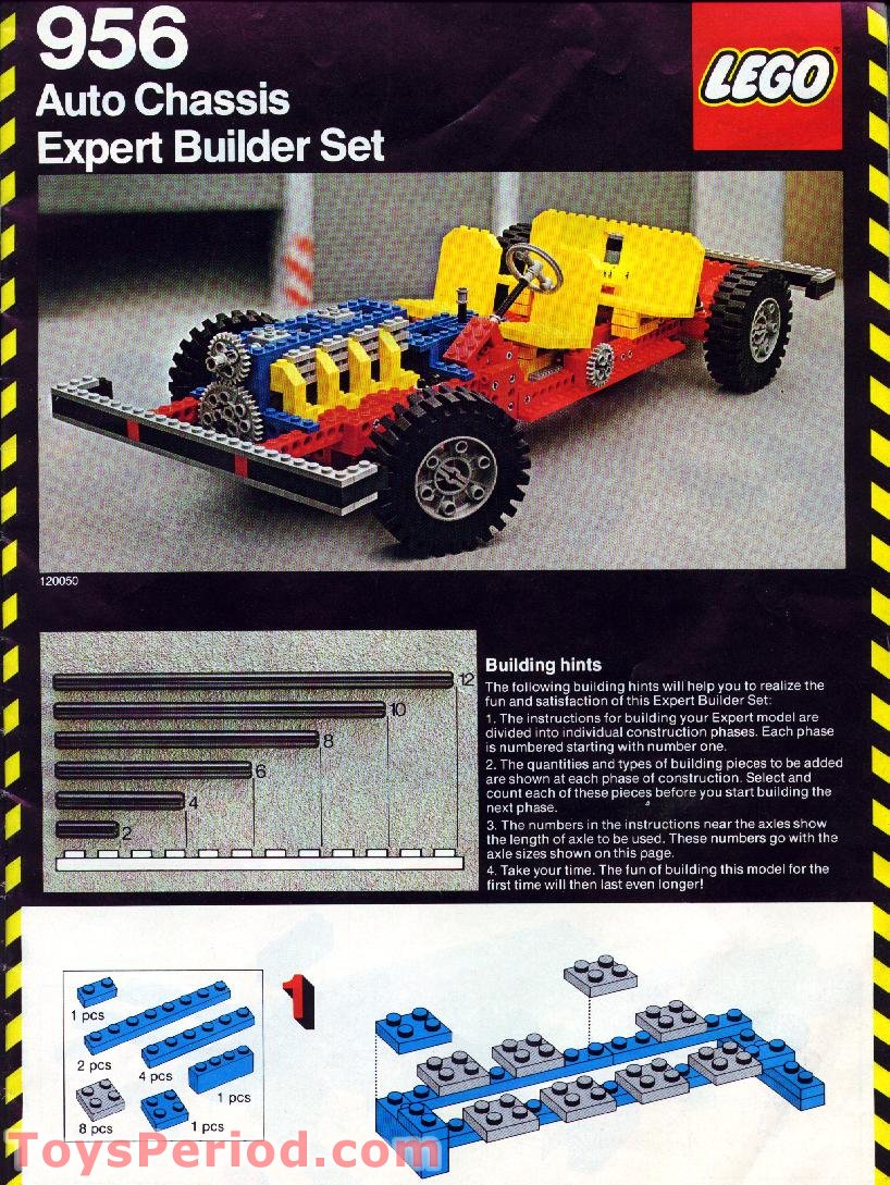 lego 956 auto chassis set parts inventory and instructions. Black Bedroom Furniture Sets. Home Design Ideas