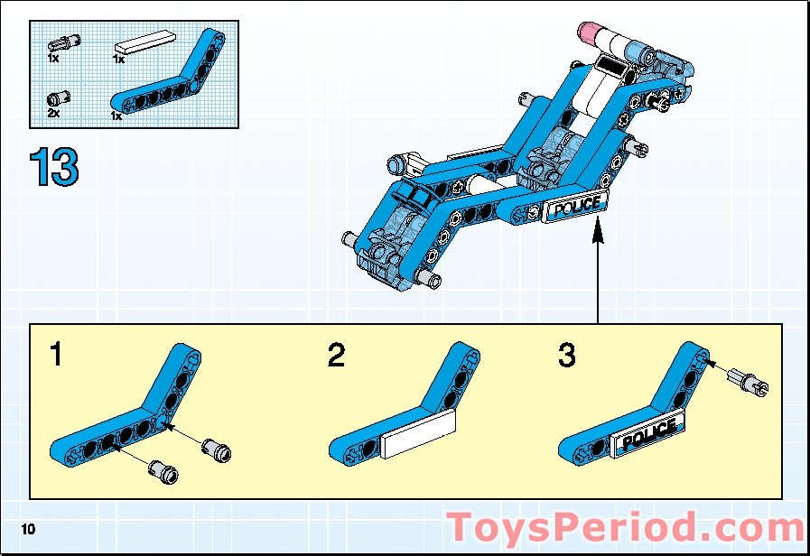 lego technic police interceptor instructions