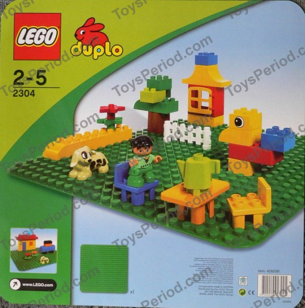LEGO 2304 Large Green Building Plate Image 3  sc 1 st  ToysPeriod & LEGO 2304 Large Green Building Plate Set Parts Inventory and ...