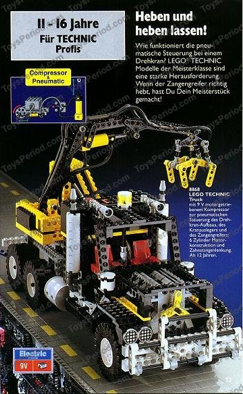 LEGO 8868 Air Tech Claw Rig Set Parts Inventory and Instructions ...