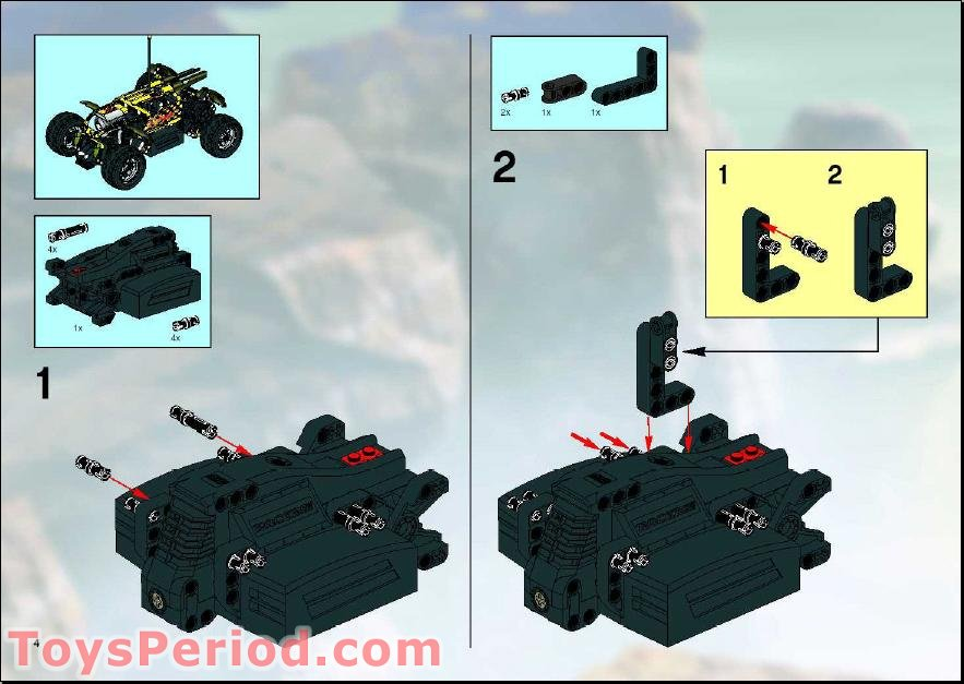 Lego 8376 Hot Flame Rc Car Set Parts Inventory And