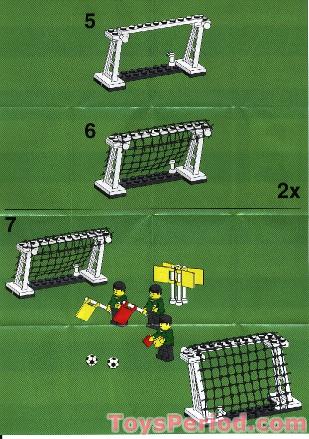 Lego Soccer Field Building Instructions