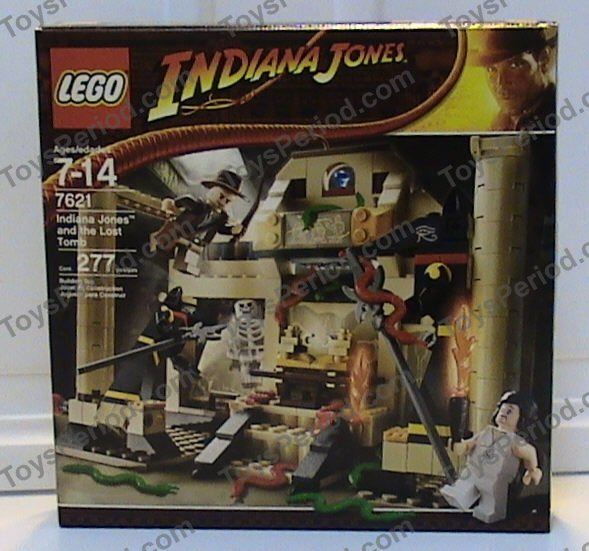 1 Lego Indiana Jones all gold ark from Lost Tomb city 7621 Pearl Gold Bricks