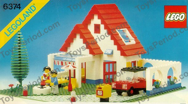 Lego 6374 Holiday Home Set Parts Inventory And Instructions Lego Reference Guide