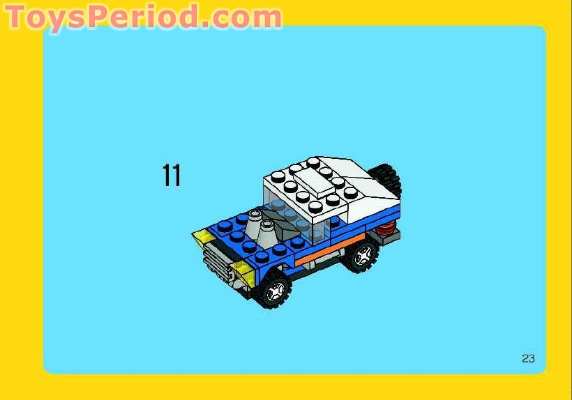 lego 4838 mini vehicles set parts inventory and