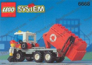 LEGO Bau- & Konstruktionsspielzeug LEGO Minifiguren Bauplan Bauanleitung 6668 Recycle Truck Müllauto Lego