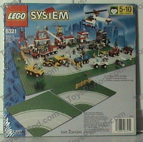 Sealed NEW Vintage Lego 6311 LEGOLAND Town Set of 2 Curved Road Base Plates