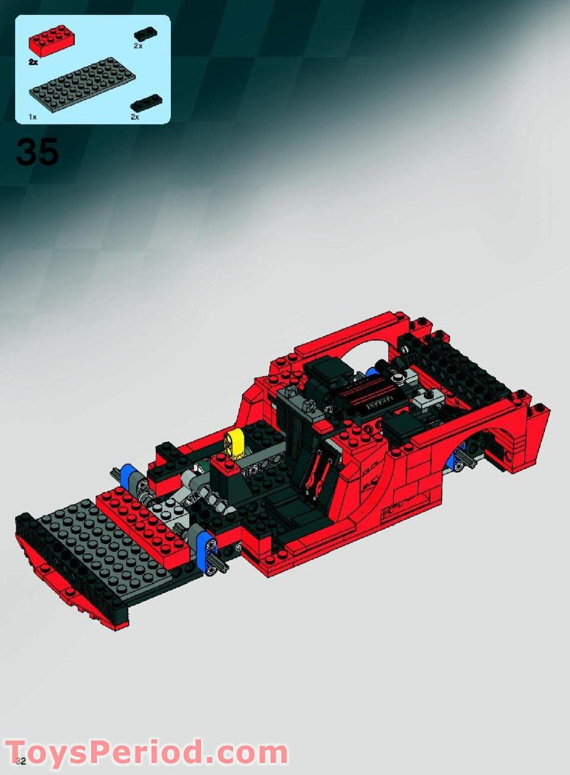 Lego 8156 Ferrari Fxx 1 17 Set Parts Inventory And