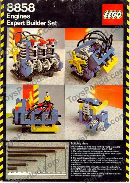 Lego 8858 2 Auto Engines Set Parts Inventory And Instructions Lego
