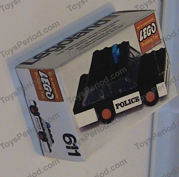 LEGO 611-1 Police Car Image 3