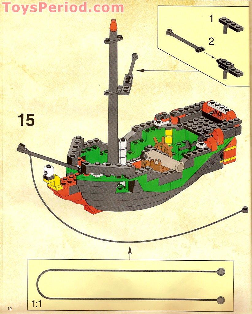 Custom Replacement Cloth Sails Lego 6250 Cross Bone Clipper Laser Cut!