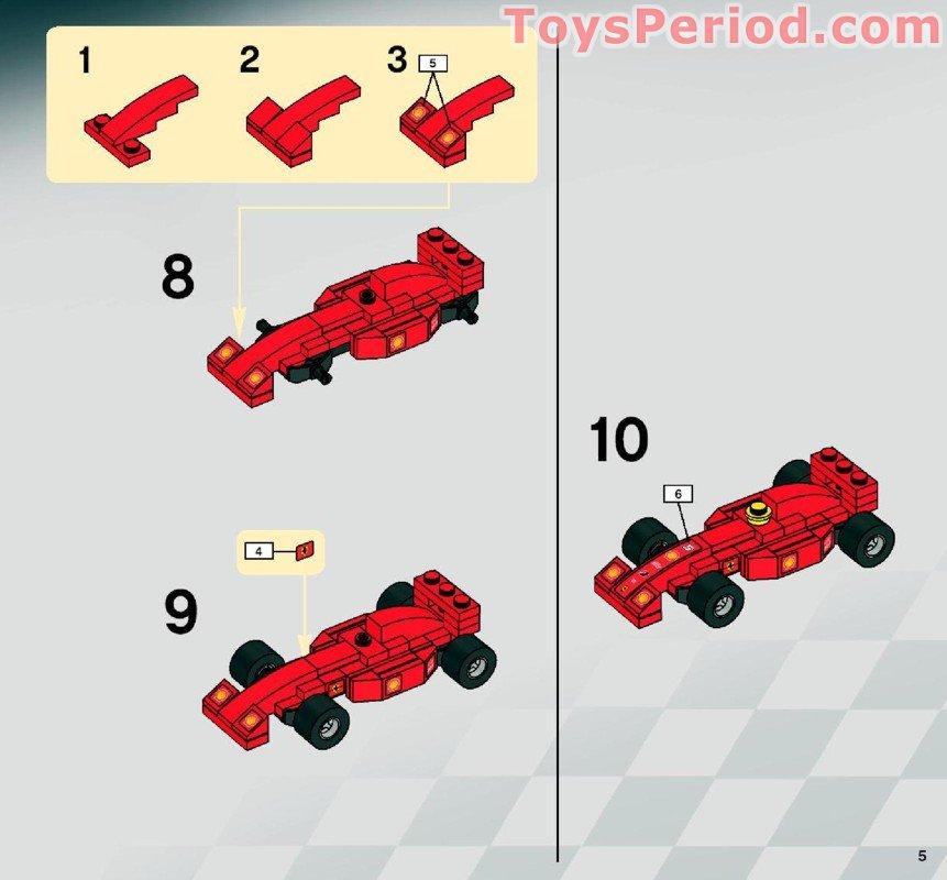 Lego 8153 Ferrari F1 Truck 1 55 Set Parts Inventory And