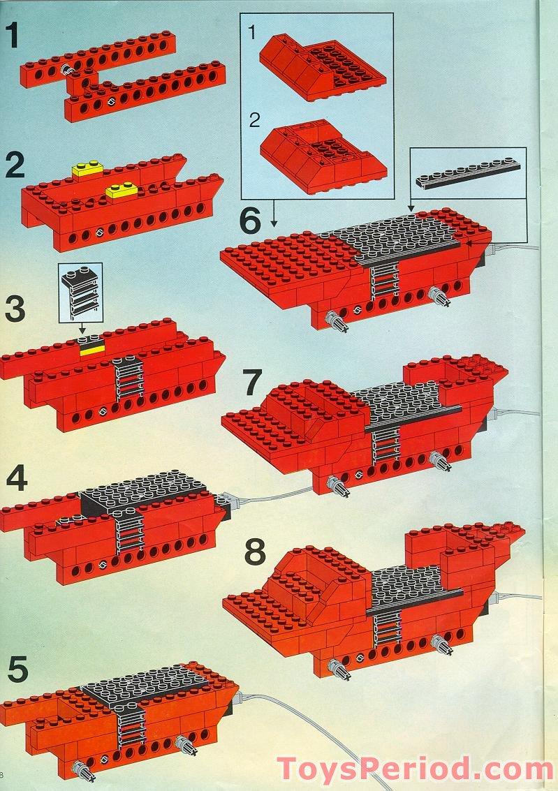 7400 Retro Computer Chip Brick Kit full color instructions and LEGO\u00ae bricks