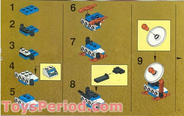 Lego 1704 Ice Planet Satellite Plow Set Parts Inventory