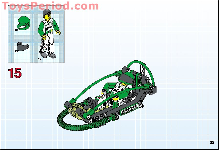 Lego 8255 Rescue Bike Set Parts Inventory And Instructions