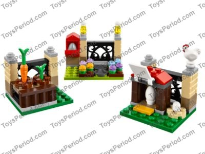 LEGO 40237 Easter Egg Hunt Set Parts Inventory and Instructions