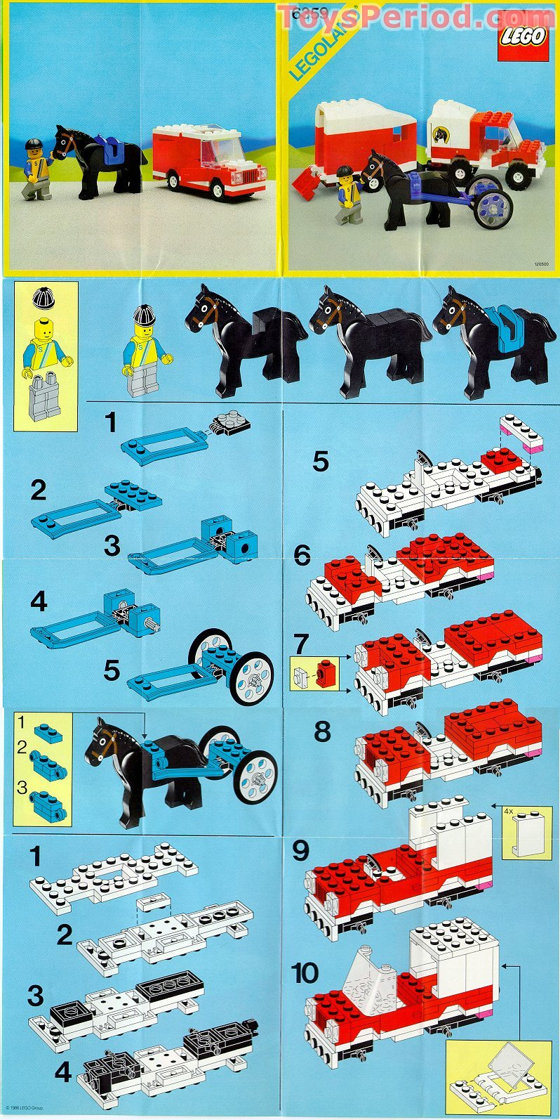 Lego 6359 Horse Trailer Set Parts Inventory And
