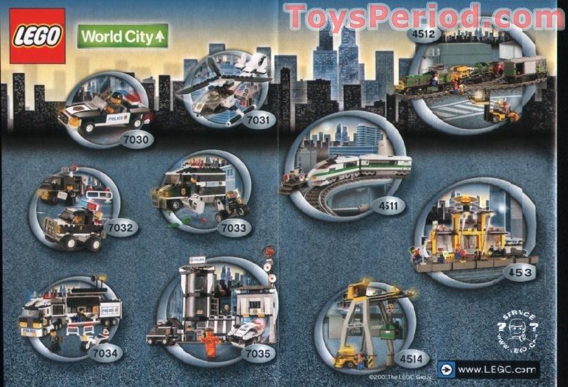 Lego 7032 Highway Patrol And Undercover Van Set Parts