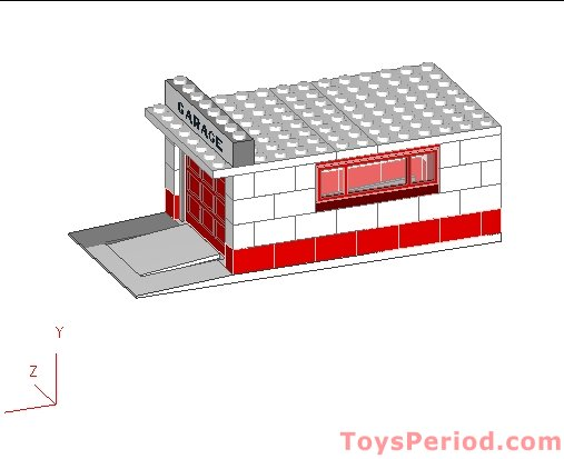 Lego 236 1 Garage With Automatic Door White Base And