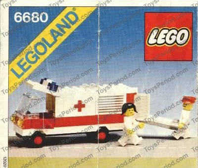 Lego 6680 Ambulance Set Parts Inventory And Instructions Lego