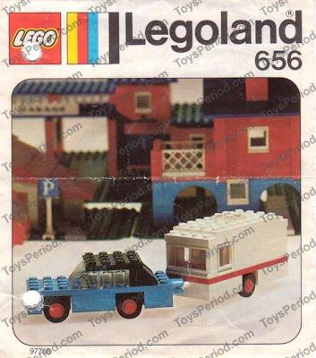 LEGO 656-1 Car and Caravan Image 1