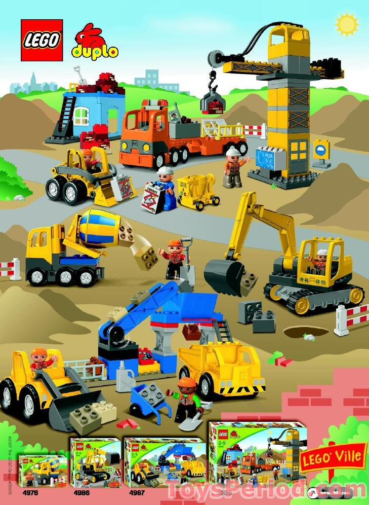Lego 4987 Gravel Pit Set Parts Inventory And Instructions Lego