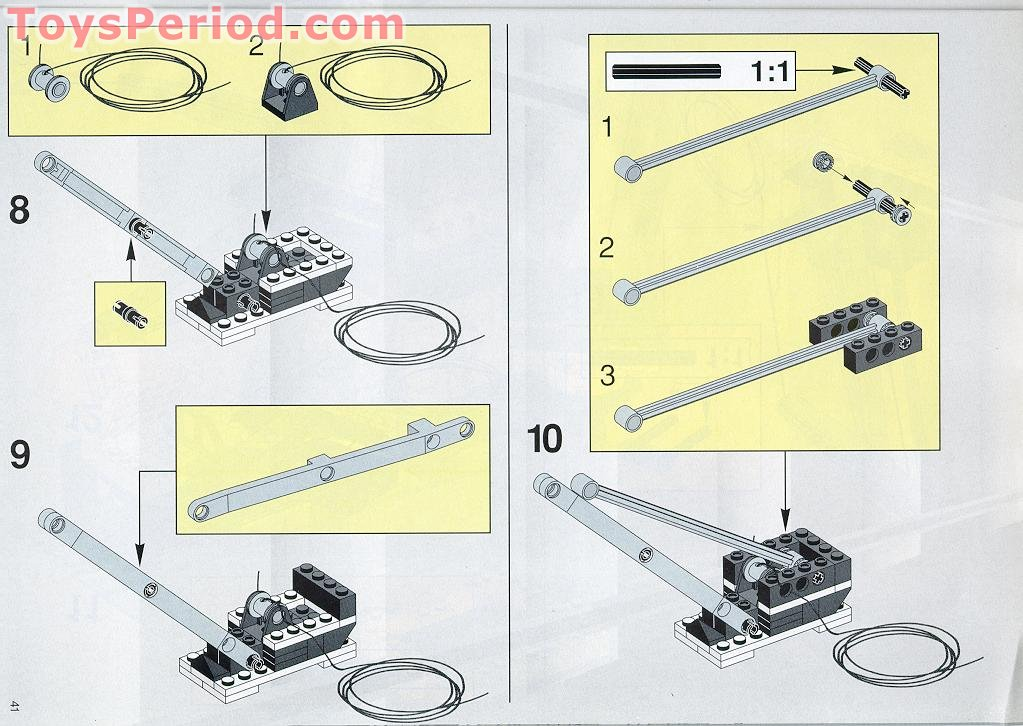 Lego Gray Crane Or Derrick Arm Assemblies