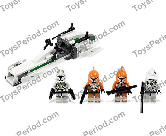 Lego 7913 Clone Trooper Battle Pack Set Parts Inventory And