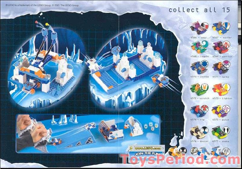 Lego 4579 Ice Ramp Racers Set Parts Inventory And