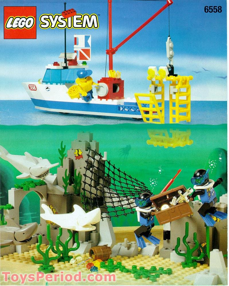 Lego Shark Toys : Lego shark cage cove set parts inventory and