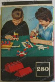 Lego 280 1 Sloping Roof Bricks Red Set Parts Inventory