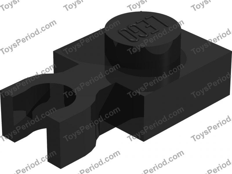 Lego 20x Black Plate 1 x 2