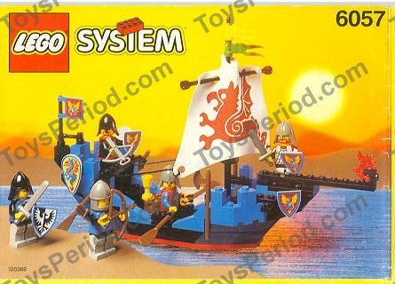 Lego 6057 Sea Serpent Set Parts Inventory And Instructions Lego