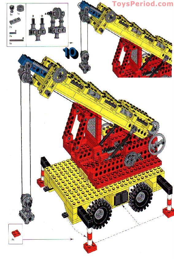 Lego 955 Mobile Crane Set Parts Inventory And Instructions Lego
