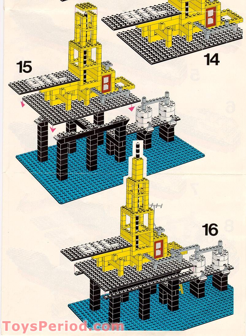lego 373 1 offshore rig with fuel tanker set parts inventory and instructions lego reference guide. Black Bedroom Furniture Sets. Home Design Ideas