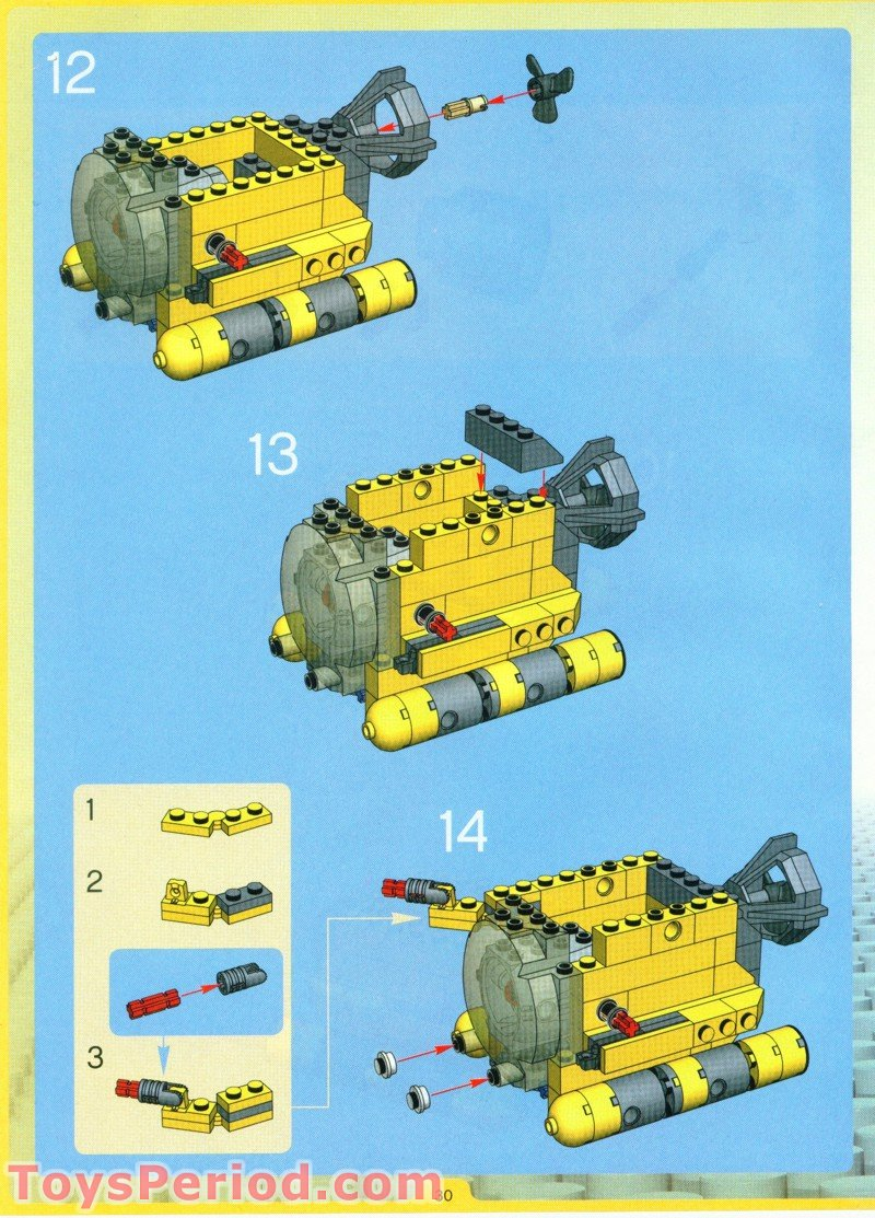 Lego 4888 Ocean Odyssey Set Parts Inventory And