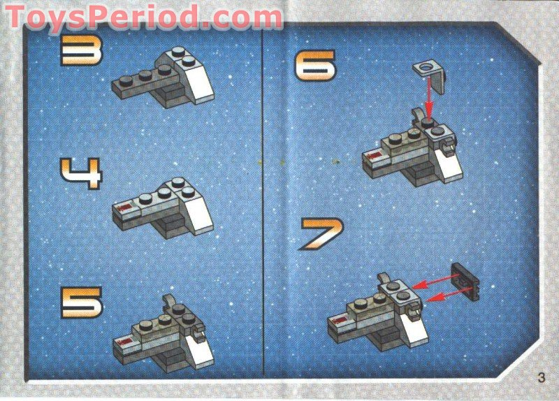Lego 4486 Mini At St And Snowspeeder Set Parts Inventory And