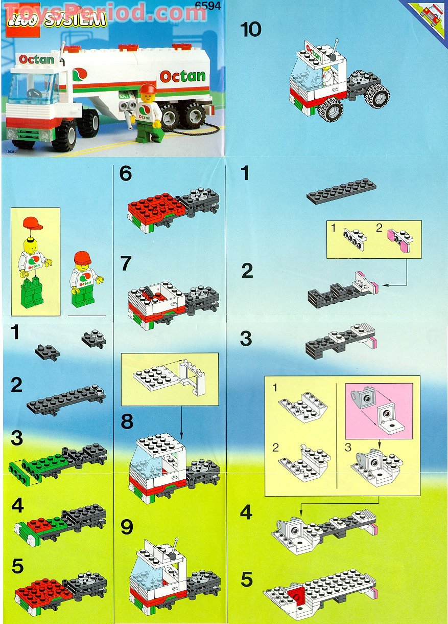 lego 6594 gas transit set parts inventory and instructions lego reference guide. Black Bedroom Furniture Sets. Home Design Ideas