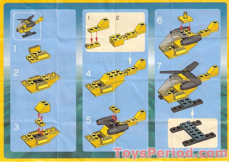 Lego 7912 Helicopter Promotional Duracell Set Parts