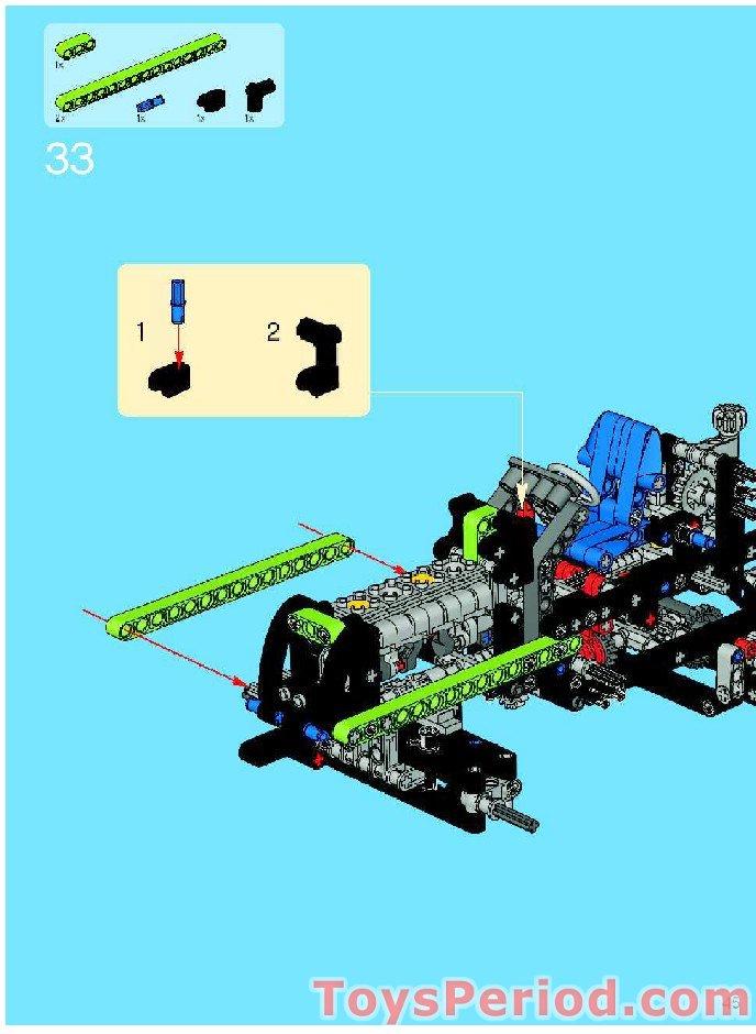LEGO Technic Lime Hose Soft Axle 14L Ref 32201 Set 8284 8649 8284 Buggy