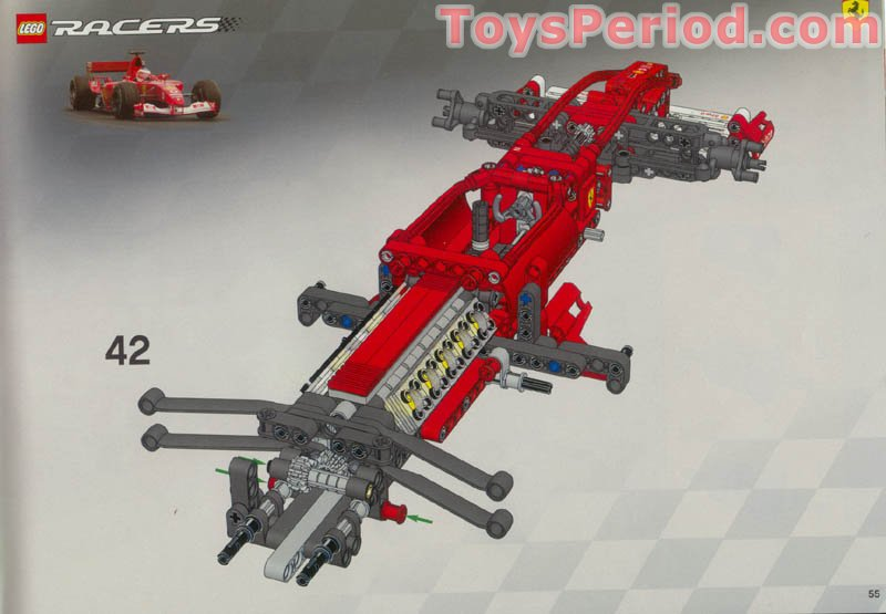 Lego 8386 Ferrari F1 Racer 110 Set Parts Inventory And Instructions