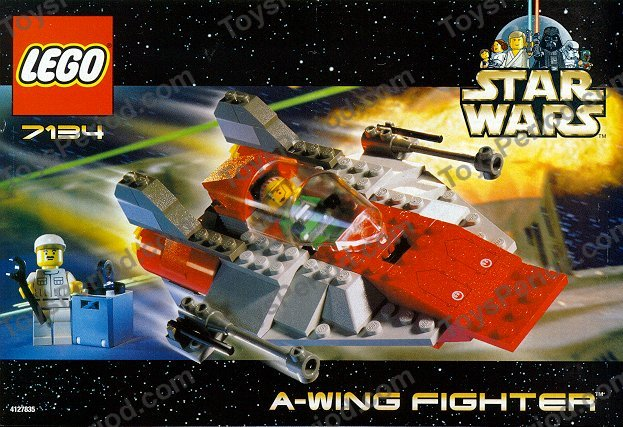 Lego 7134 A Wing Fighter Set Parts Inventory And Instructions Lego