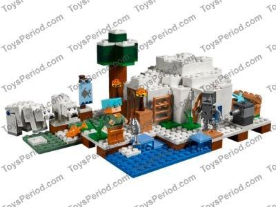 Lego Minecraft Eiswanderer Stray w// Bow /& Poncho from set 21142 White Walker NEW