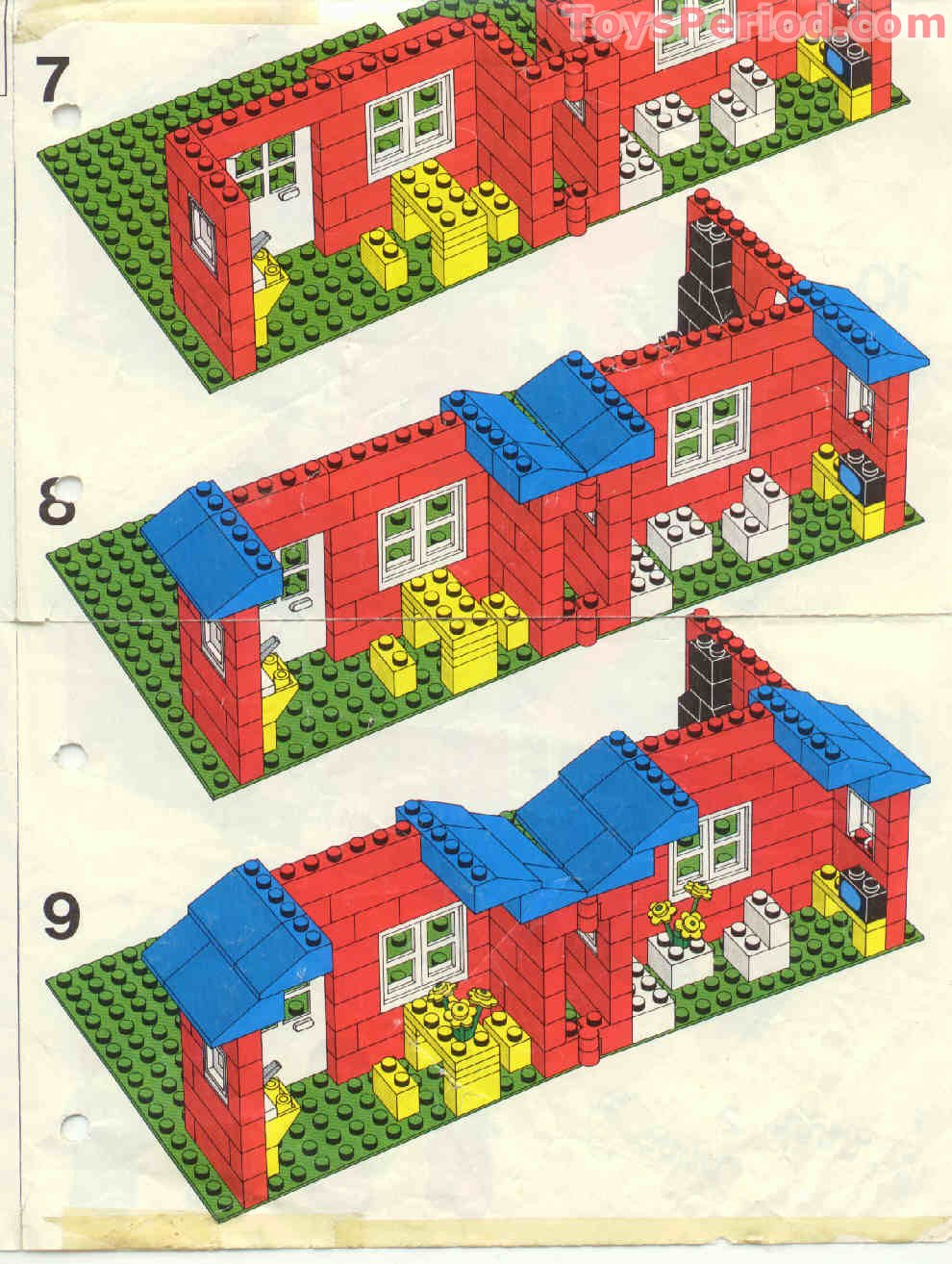 Lego 376 2 town house with garden set parts inventory and for Lego classic house instructions