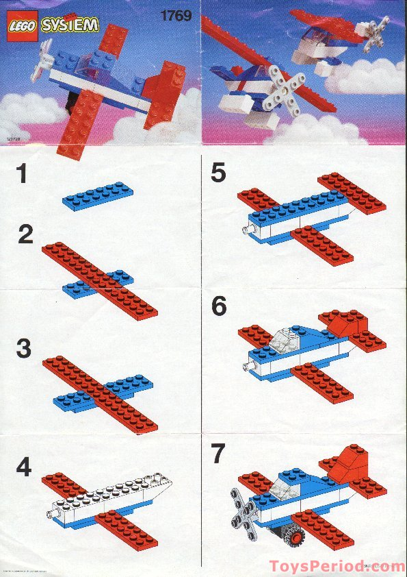 Lego 1769 aircraft set parts inventory and instructions for How to build a house step by step instructions