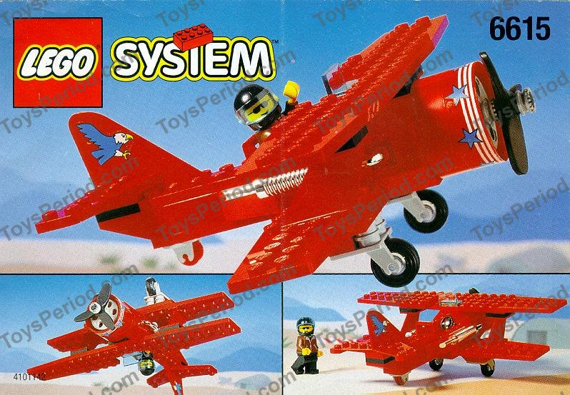 Lego 6615 Eagle Stunt Flyer Set Parts Inventory And Instructions