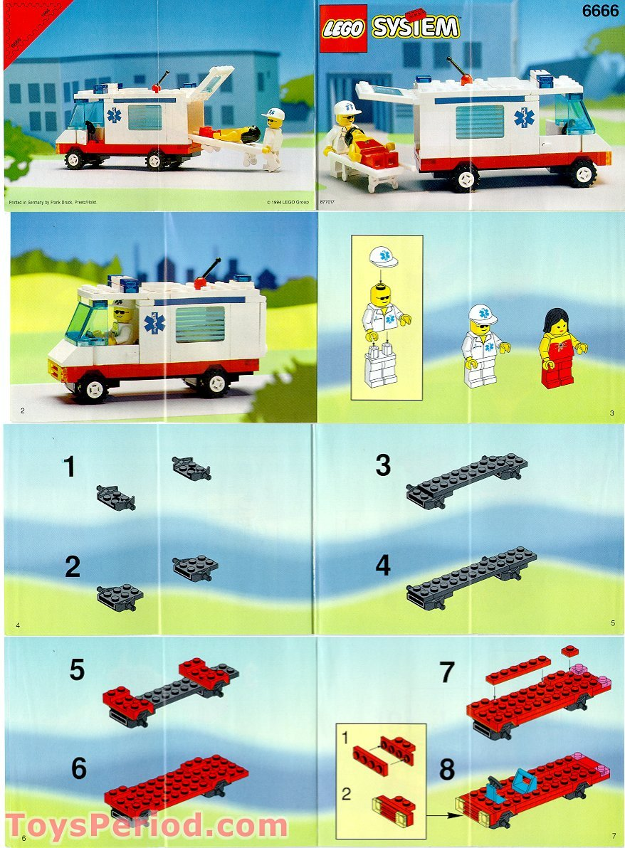 lego 6666 ambulance set parts inventory and instructions lego reference guide. Black Bedroom Furniture Sets. Home Design Ideas