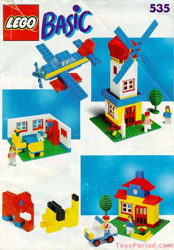 Lego 535 1 Basic Building Set 5 Plus Set Parts Inventory