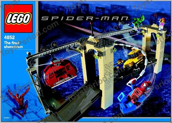 Lego 4852 the final showdown set parts inventory and instructions lego reference guide - Lego the amazing spider man 3 ...